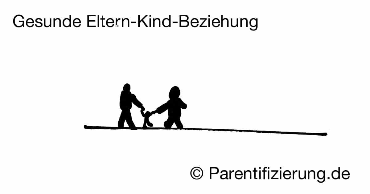 Gesunde Eltern-Kind-Beziehung – das Kind wird von beiden Eltern gehalten