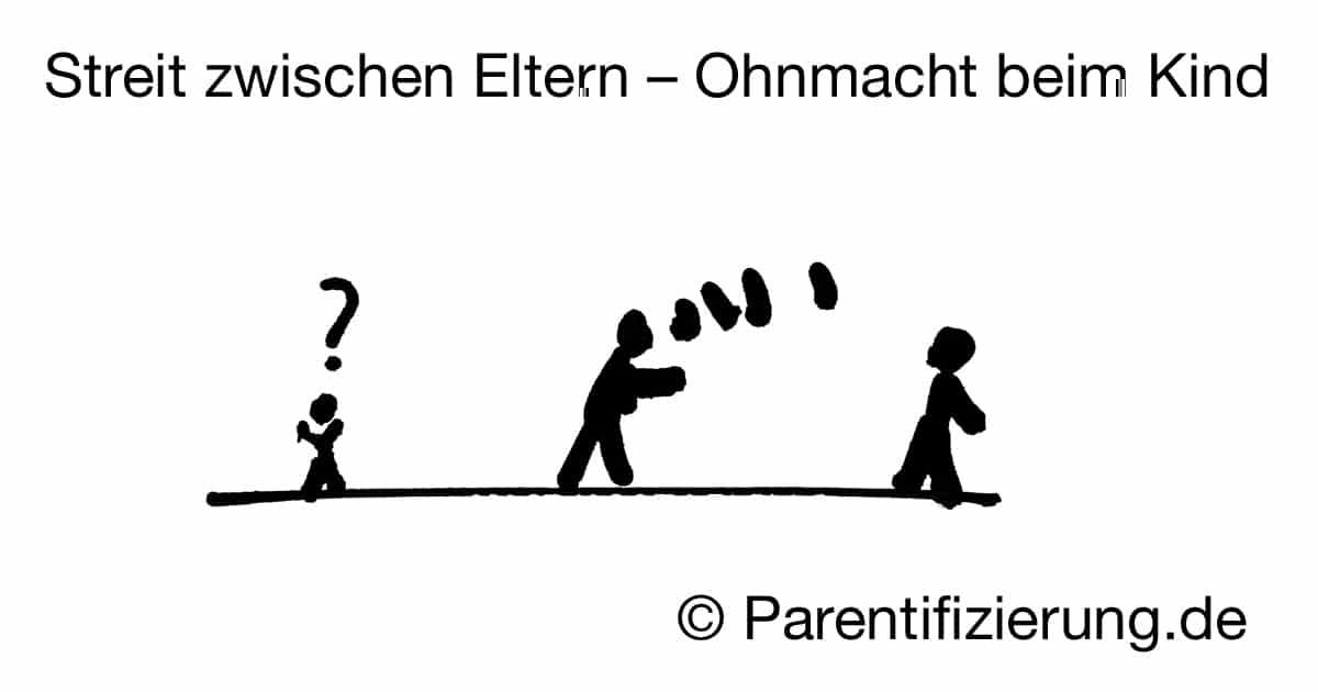 Streit zwischen Eltern Ohnmacht bei den Kindern